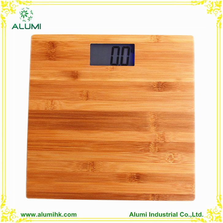 Bamboo Body Weight Bathroom Scale Large LCD Display