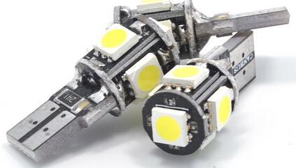 T10 12V 3W 5PCS 5050 White LED Car Light