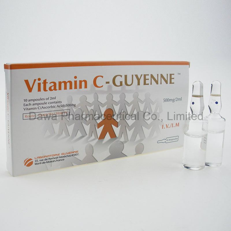Essential Beauty Whitening Nutreint Cosmeticologyvitamin C Injection 500mg/5ml, 500mg/2ml