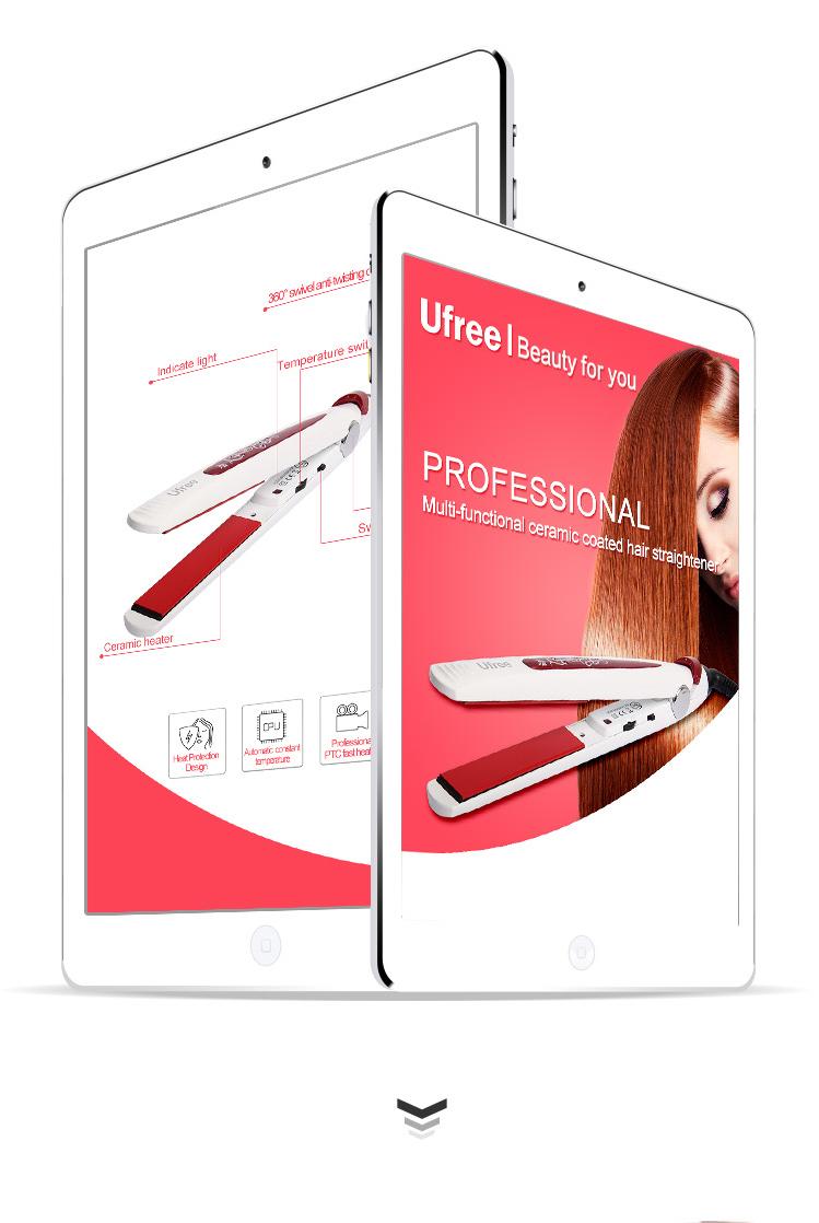 Ufree 62198 Hair Flat Iron New Design Hair Straightener