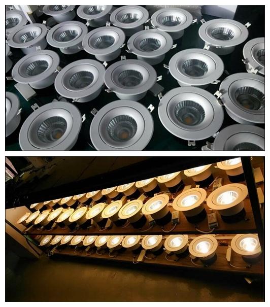 Triac 0-10V Dali Dimmable Recessed LED COB Downlight