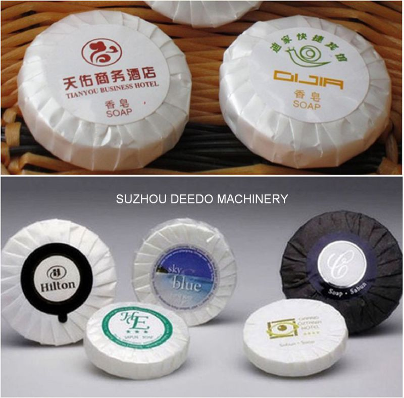 Automatic Round Hotel Pleating Soap Wrapping Machine