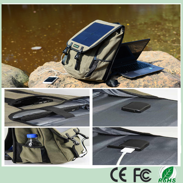 10W 5V Solar Battery Charging Outdoor Backpack Bag for Travel Climbing Solar Panel USB Output Charger Backpack (SB-188)