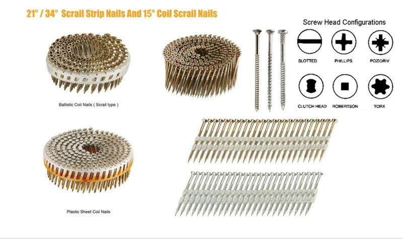 15 Degree Pozi Head Wire Collated Screw
