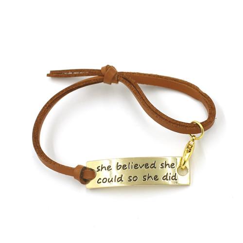 Gift 14k Gold Plated Custom Bracelet Fashion Jewelry
