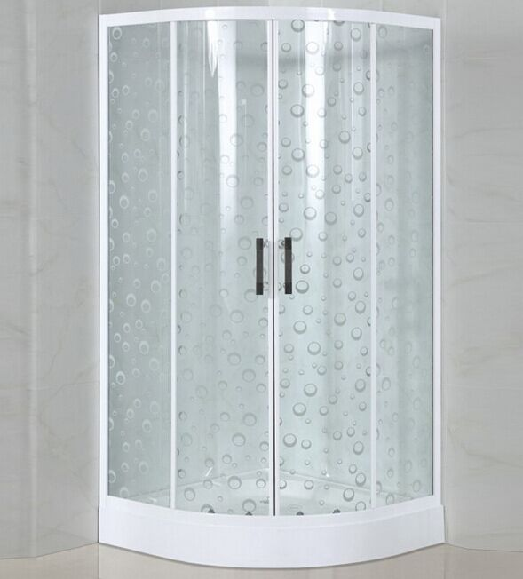 White Painted Glass Low Tray Shower Enclosure (ADL-8012D)