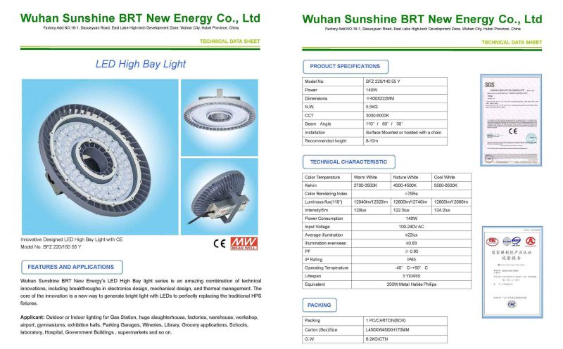 150W LED High Bay Canopy Light