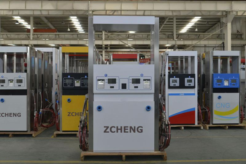 Zcheng Gas Station CNG Dispenser Two Hose