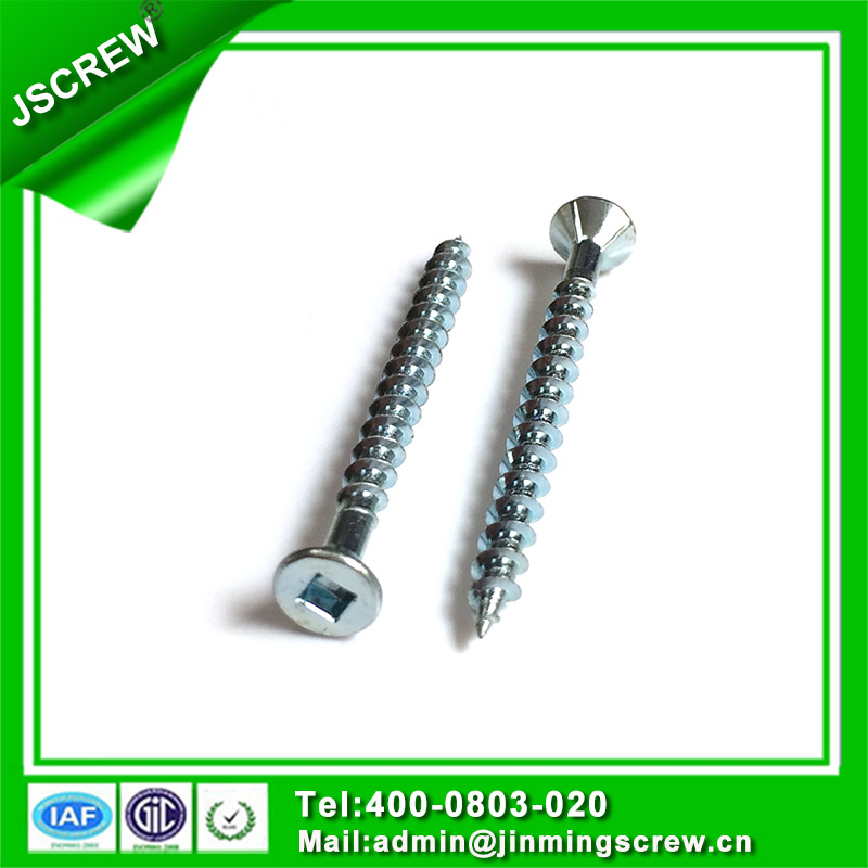 Countersunk Cross Head Self Tapping Screw with Rids