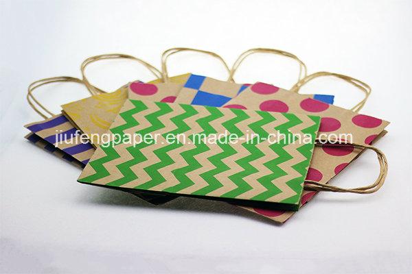 Printed Design Kraft Paper Handbag