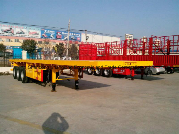Three Axles 30ton Container Trailer Flatbed Semi Trailer