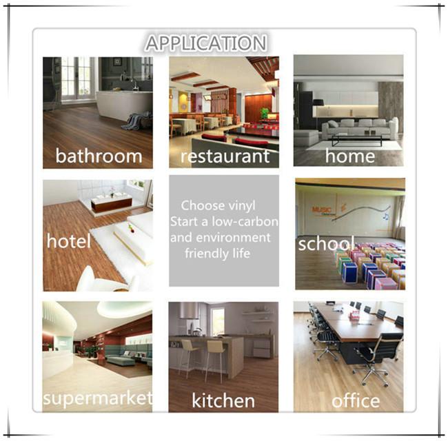 Commercial or Household PVC Vinyl Flooring