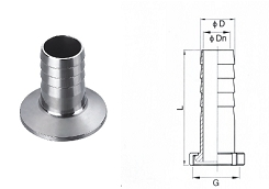 Sanitary Hose Coupling Clamped End
