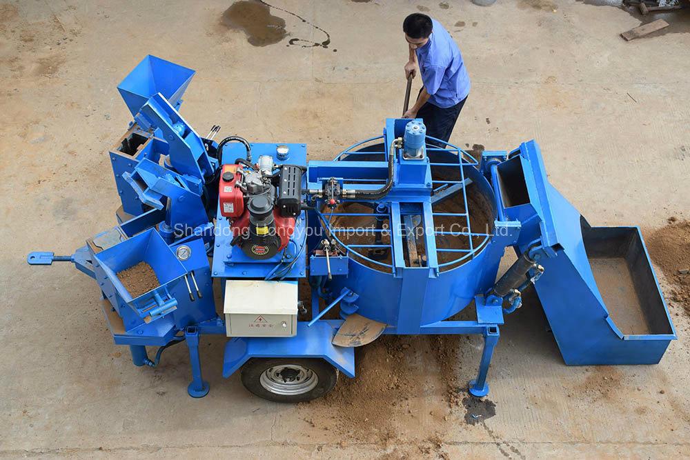 M7mi Twin Manual Soil Interlock Myib Interlocking Brick Making Machine