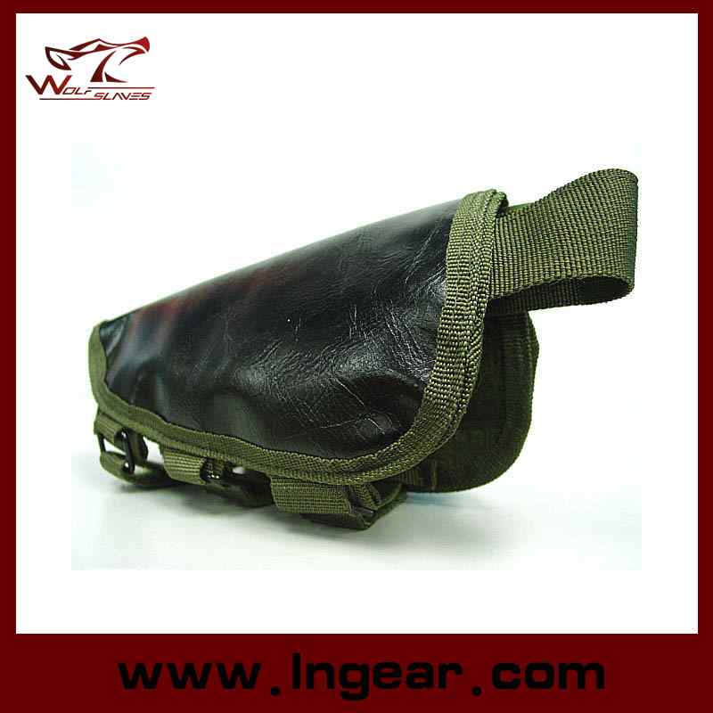 Tactical Airsoft Shotgun Rifle Ammo Pouch Cheek Pad Gun Bag Od