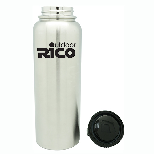 Durable Stainless Steel Vacuum Sports Bottle Silver 40oz