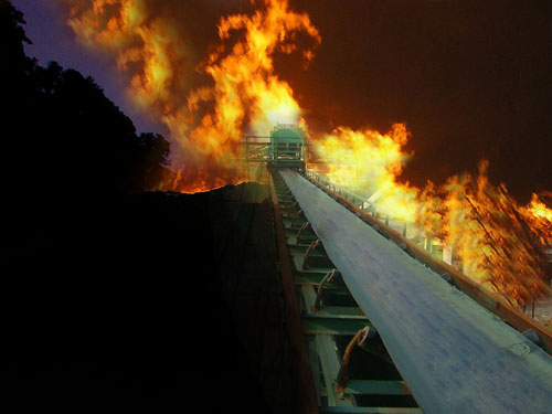 Fire-Resistant Conveyor Belt for Coal Mine