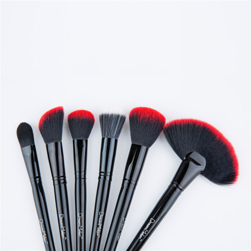 24PCS Red Best Foundation Brushes Personalized Makeup Brushes Sets