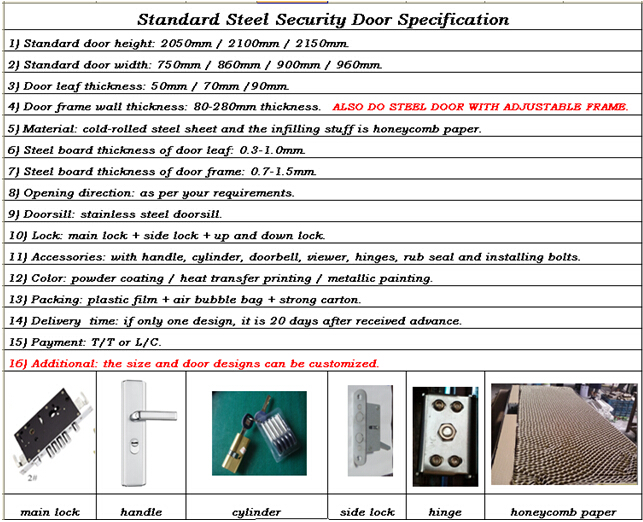 Luxury Steel Security Double Door (LTT-012D)