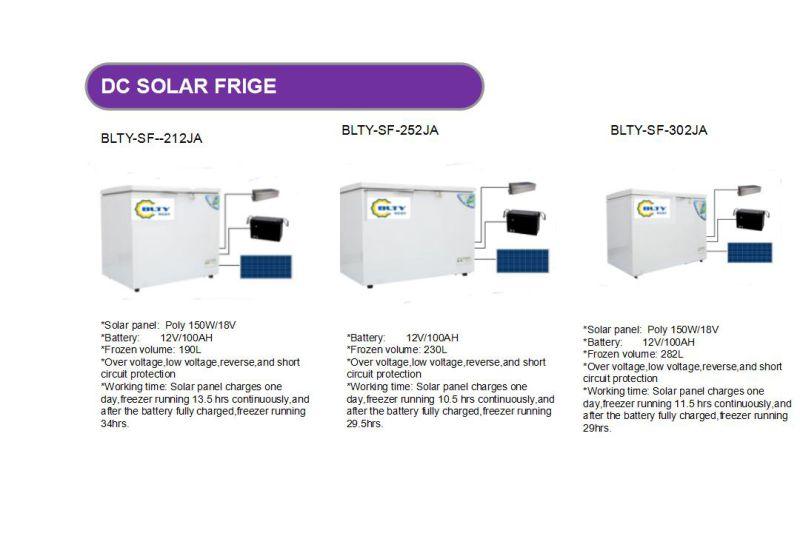 Hot Sale 190L DC Solar Freezer