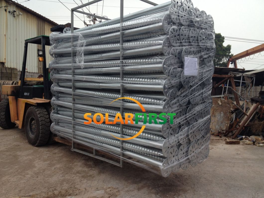 Direct Factory Solar Panel Using Anchor Pile Ground Screw Pole Anchor