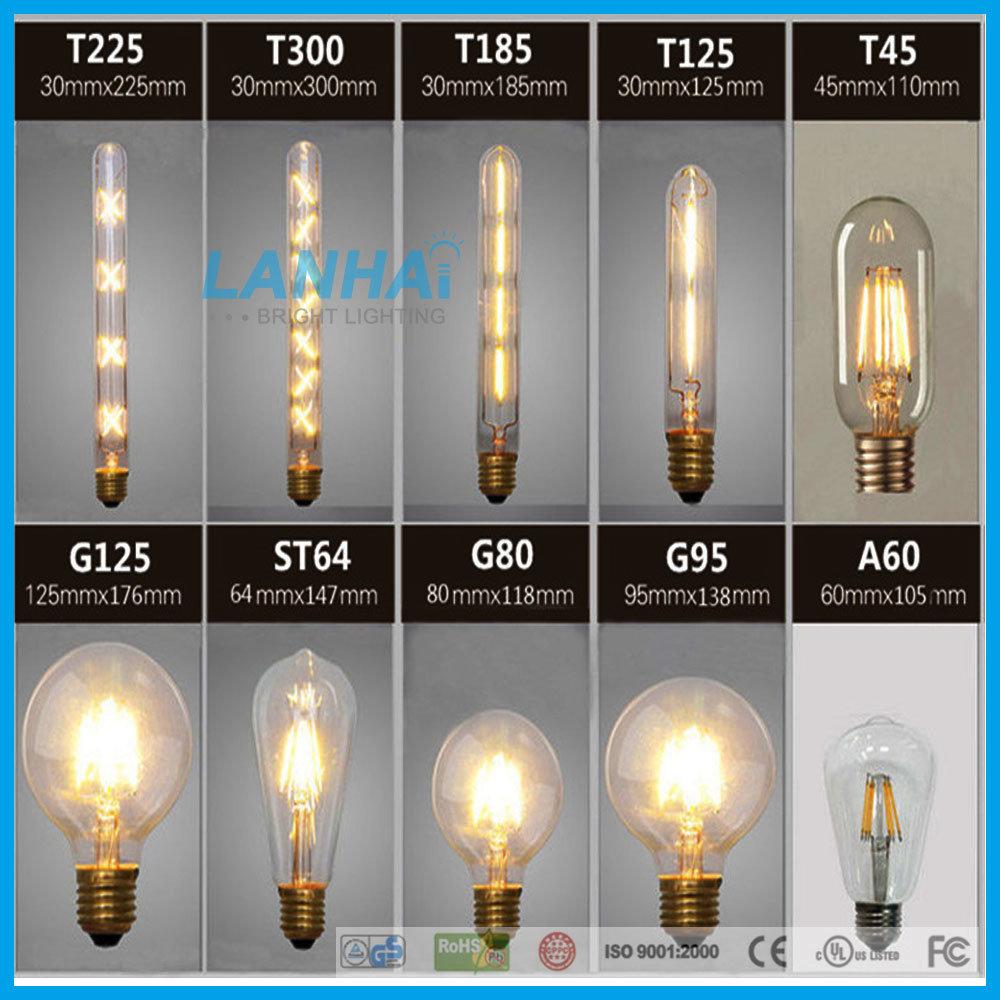 G95 Glass 4W E27/B22 110V/230V Vintage LED Filament Bulb