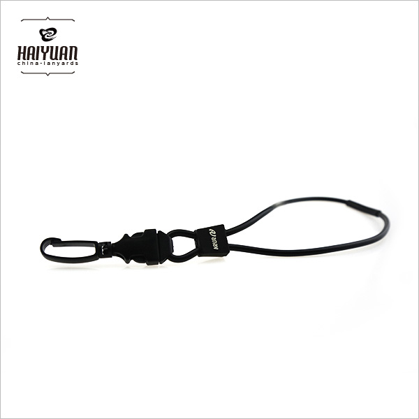 Black PVC Round Cord with Plastic Egg Hook