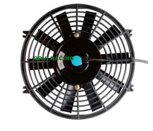 12inch Universal Slim Car Radiators Electric Fan Cooling Fans Black