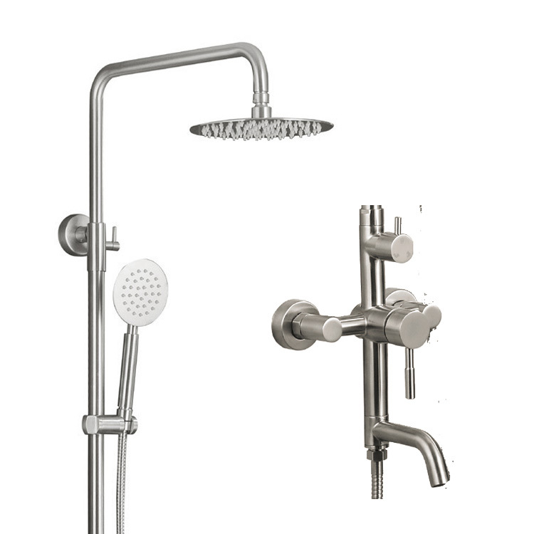 Bath Showerset Body Faucet with 5 Functions Handheld Showerhead