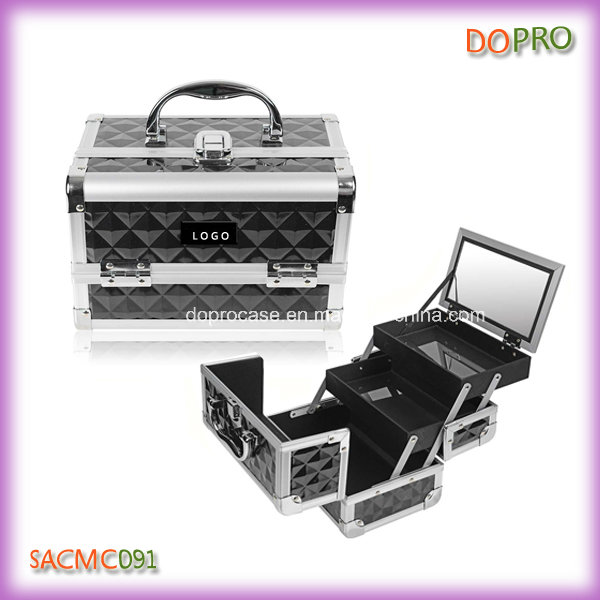 Wholesale False Eyelashes Storage Empty Makeup Case with Mirror (SACMC091)