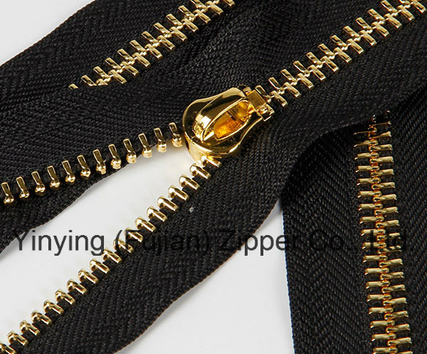 #5 Close End Rose Gold Metal Zipper