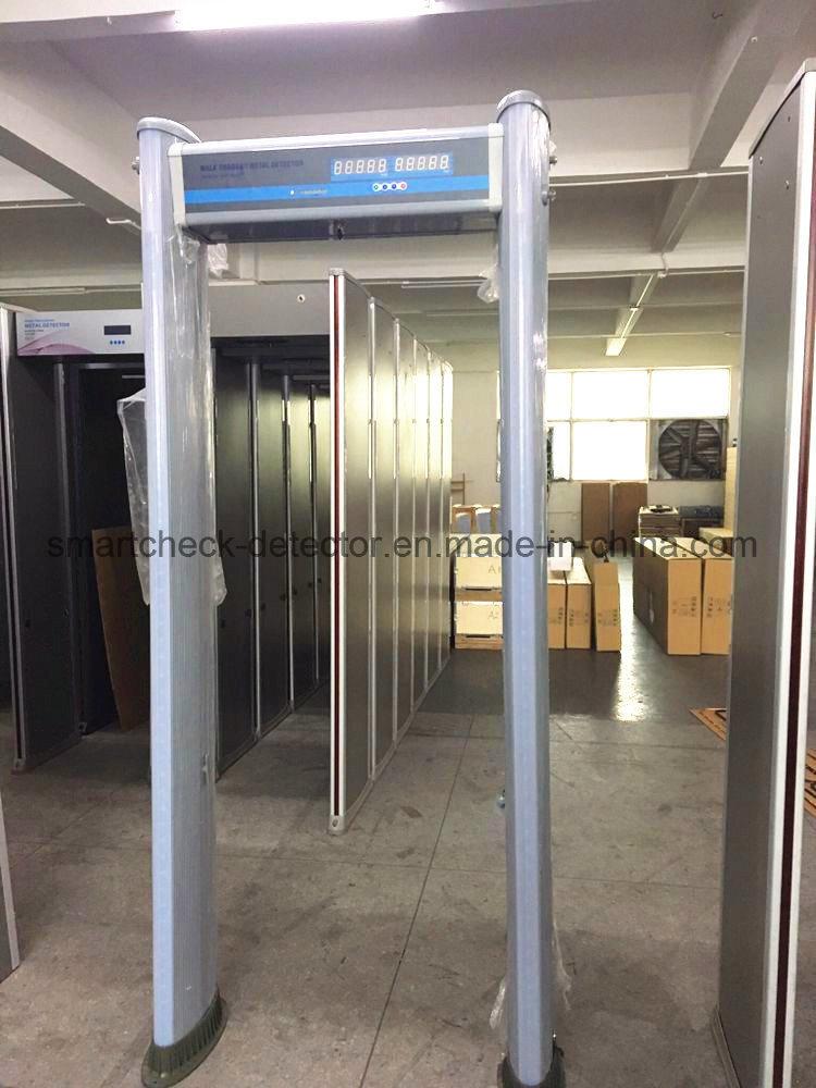 6 Zone Door Frame Metal Detector Cylindrical Walk Through Metal Detector