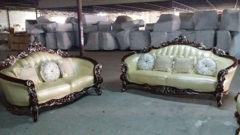 Antique Sofa, Leather Sofa, New Classic Sofa (B011)