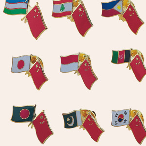 National Flags Badges, Metal Pins (GZHY-LP-030)