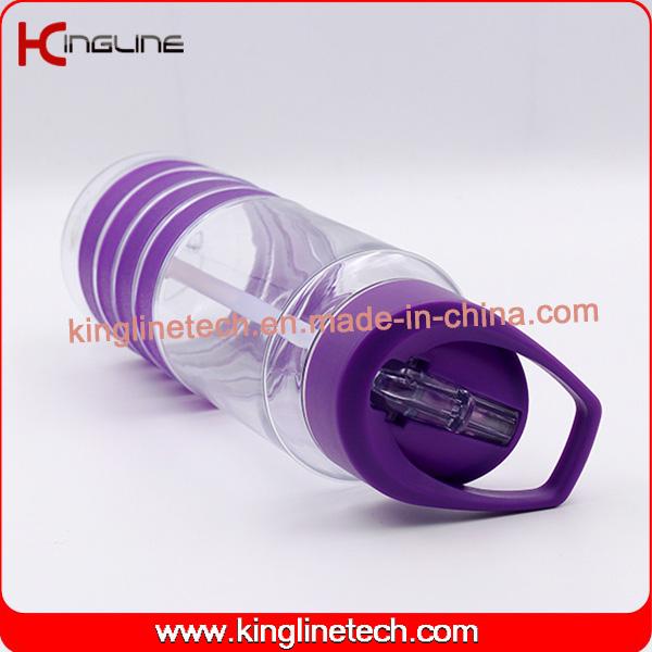 700ml high quality Plastic straw Drink bottle (KL-7146)
