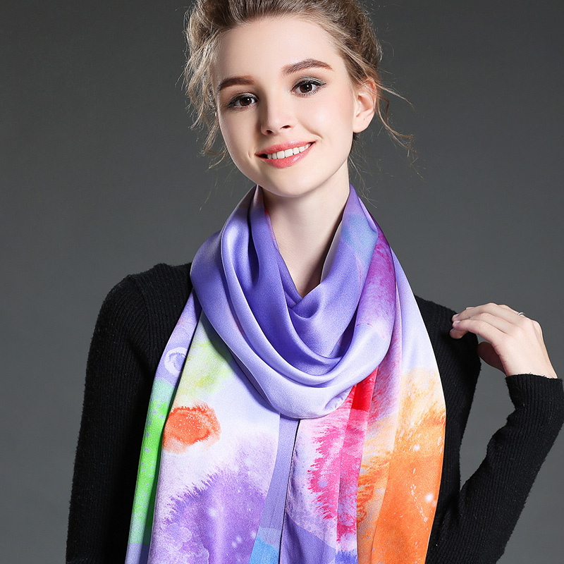 The New Lady Dyeing Long Scarf Purple