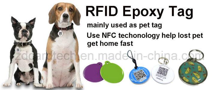 Factory Cheap Price RFID Pet Tag Epoxy NFC Dog Tag