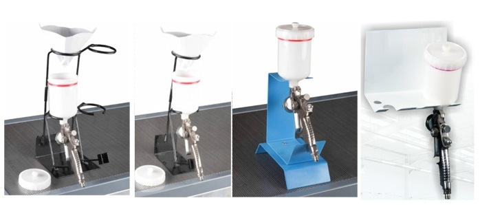 Gravity Feed Spray Gun Holder for Single Gun