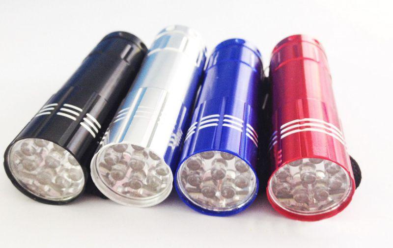 Mini Promotional 9LED Flashlight Gift Flashlight Portable Pocket Flashlight