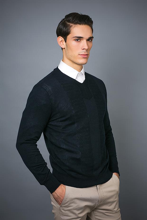 Men′ S Fashion Cashmere Blend Sweater 17brpv131