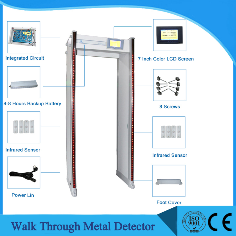 33 Zones Security Walk Through Metal Detector with Network Function Uz800