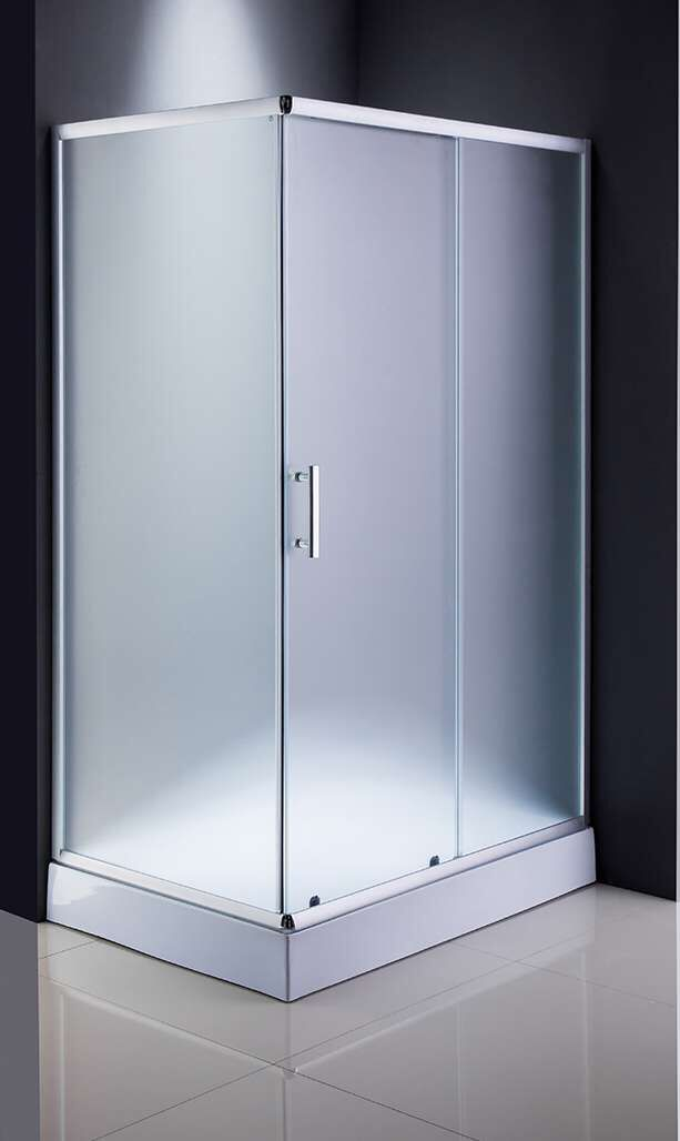 Mat Glass Rectangle Tray Shower Enclosure (ADL-8001)