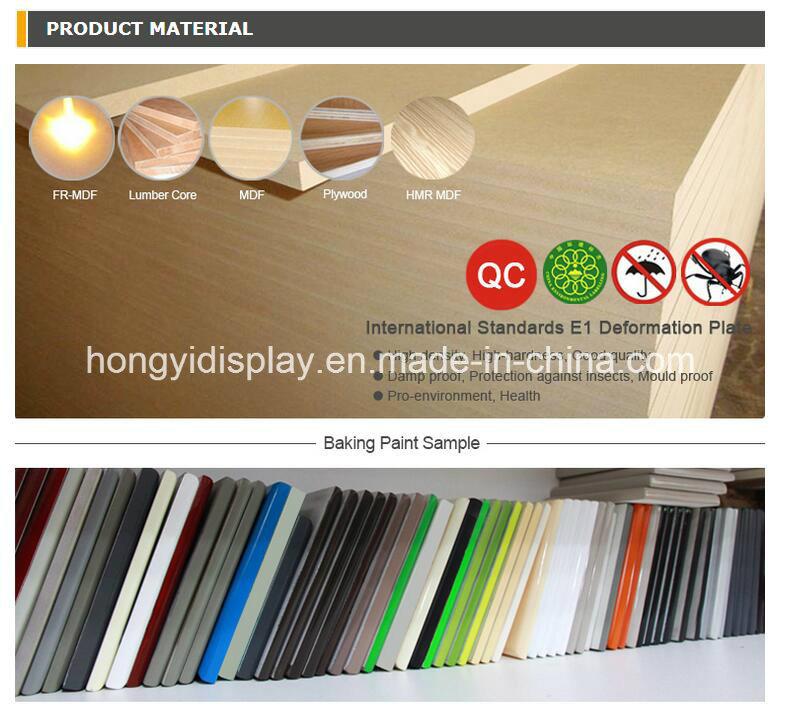 Elegant Wall Mounted Metal Garment Display Rack for Ladies Clothes Shop Design