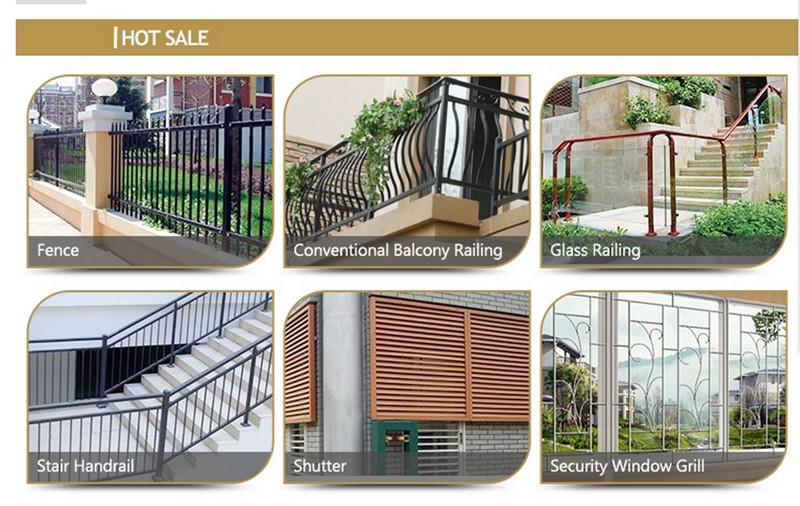 Modern Simple Beautiful Decorative Wrought Iron Balusters, Indoor Balcony Railing