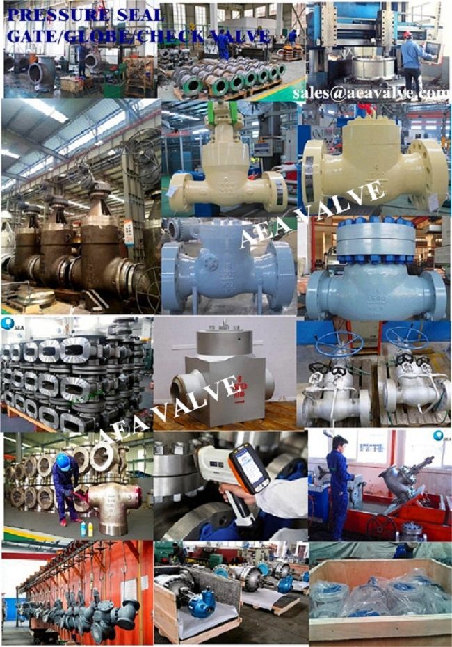Electric Motorized Power Station High Pressure Pressure Seal Gate Valve