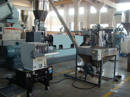 Single Screw Pelletizing Granulating Extruder/ Plastic Recycling Line