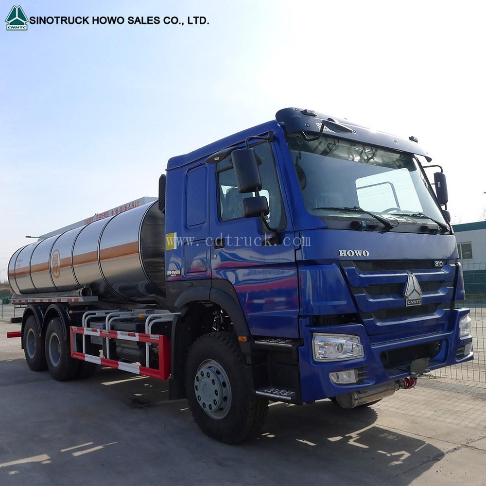 China Famous Brand 6X4 Sinotruk HOWO 20ton Water Tank Truck