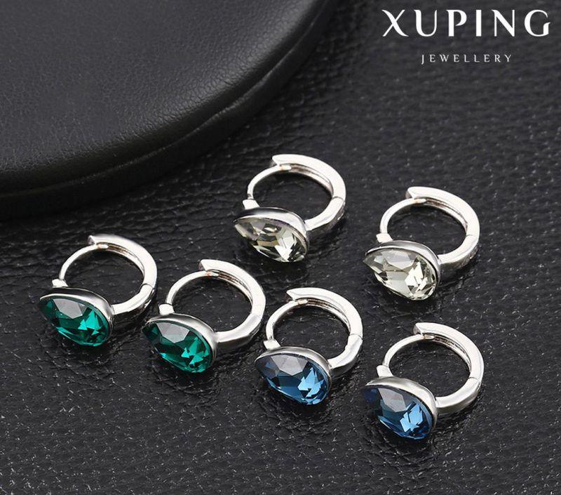 92608 Fashion Latest Charm Cystals From Swarovski Jewelry Tear Earring Huggie
