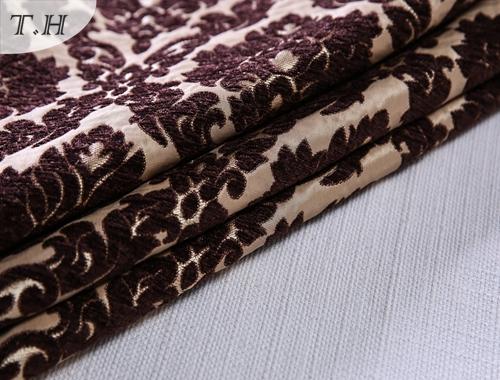 Chenille Sofa Fabric Floral Jacquard Fabric for Sofa and Furniture