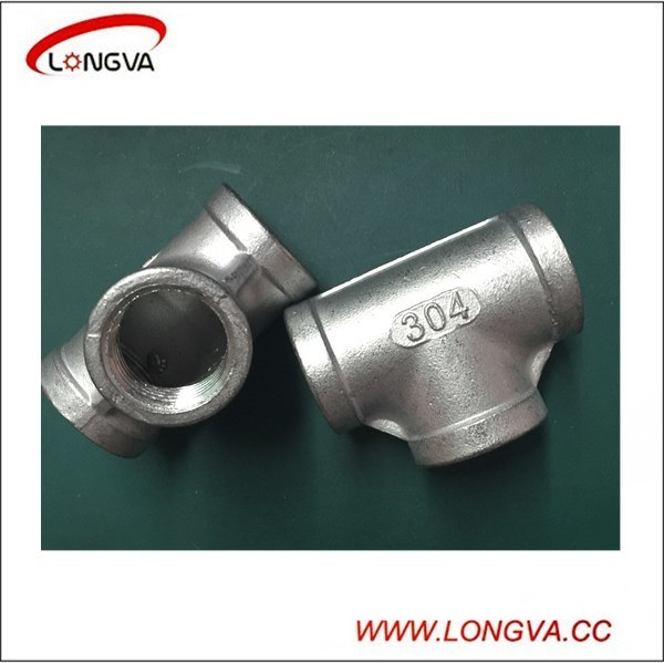 stainless Steel Thread Equal Tee Pipe Fitting